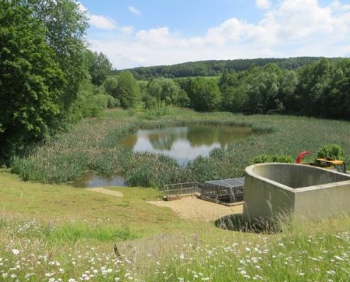 Hochwasserrückhaltebecken in Eitorf/Rhein-Sieg-Kreis
